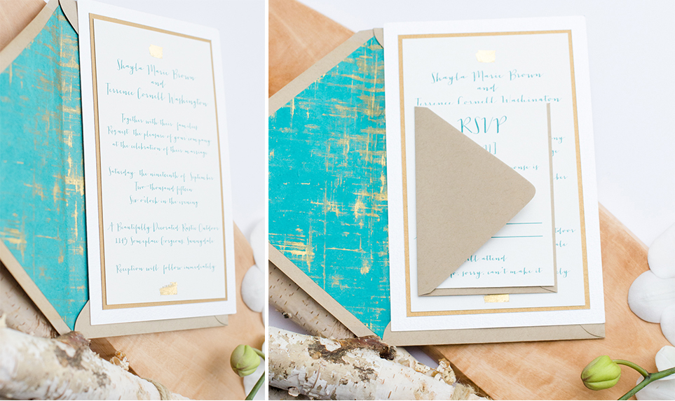 Rustic Radiance Invitation Suite by Simply Sleek Designs